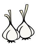 kryddnejlikavitlök stock illustrationer