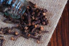 Kryddnejlikor kryddar för att laga mat arkivbilder