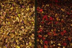 Kryddor är i lagret, mång--färgad textur fotografering för bildbyråer