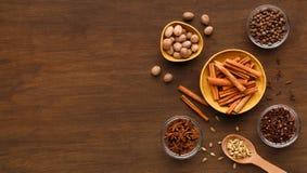 Kryddor övervintrar samlingsbegrepp fotografering för bildbyråer
