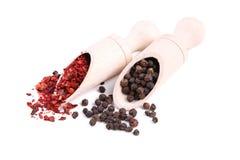 Kryddor blandar isolerat på en vit bakgrund Top beskådar royaltyfri foto