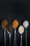 Kryddor för att laga mat kött Arkivbilder