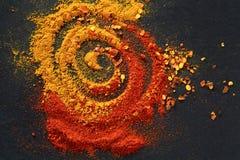 Kryddor för mat Arkivbild