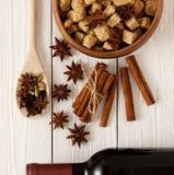 Kryddor för mulled wine Royaltyfri Bild