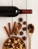 Kryddor för mulled wine Fotografering för Bildbyråer