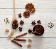 Kryddor för mulled wine Royaltyfria Bilder