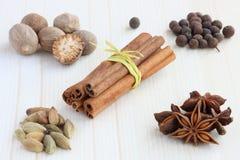 Kryddor för mulled wine Royaltyfri Foto