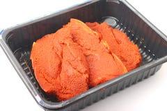 kryddor för ny meat Royaltyfri Fotografi