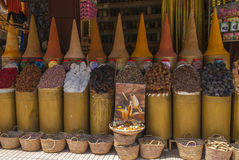 Kryddor i en Souk i Marrakesh Fotografering för Bildbyråer