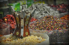 Kryddor i souq royaltyfria bilder