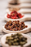 Sichuan peppercorns Fotografering för Bildbyråer