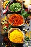 Kryddor och örtar Arkivfoto