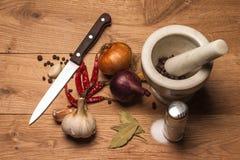 Kryddor och örtar Fotografering för Bildbyråer