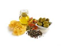 Kryddor och pasta Royaltyfria Bilder
