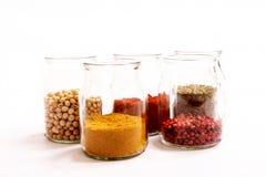Kryddor och skidfrukter arkivbild