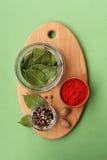 Kryddor och smaktillsatser royaltyfri bild
