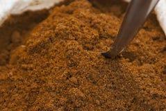 Kryddor på den indiska marknaden Royaltyfria Foton