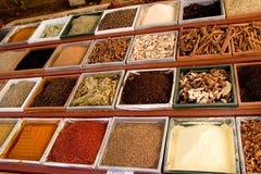 Kryddor på försäljning Royaltyfri Foto