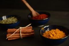Kryddor på köket Royaltyfria Bilder