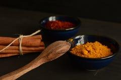 Kryddor på köket Arkivbilder