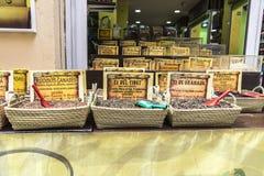 Kryddor shoppar Arkivfoton