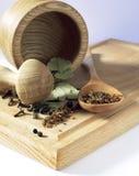 Kryddor, smaktillsatser och kryddor Arkivfoton