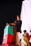 krykiecisty Imran khan polityk obracający obraz stock