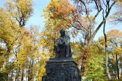 Krylov monument in Summer Garden. Royalty Free Stock Photos