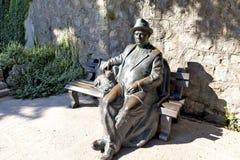 ` Krymchanin ` скульптуры отдыхая в ` Partenit Aivazovsky ` санатория ` рая ` парка Крым Стоковые Изображения RF