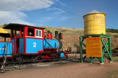 Krymplingliten vik och Victor Narrow Gauge Railroad royaltyfria bilder