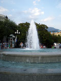 Krymska fontanna z ludźmi Fotografia Stock