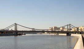 Krymski most W Moskwa między Krymskim dyszlem i Krymskim terenem Obraz Stock
