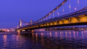 Krymskiy桥梁在莫斯科 免版税库存图片