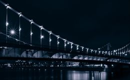 Krymsky bridge across the Moscow river, Moscow, Russia royalty free stock photo