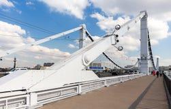 Krymsky Bridge in Moscow Royalty Free Stock Photo