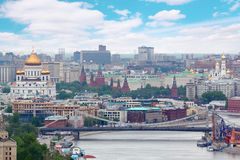 Krymsky bridge in Moscow, Russia. Royalty Free Stock Images