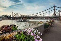 Krymsky Bridge Stock Image