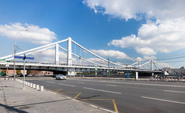 Krymsky Bridge in Moscow Stock Images