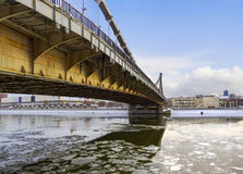 Krymsky bridge over the Moskva River. Moscow, Russia Stock Images