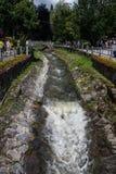 Krynica Gorska码头和公园 免版税库存图片