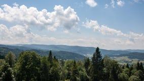 Krynica Gorska Gora Parkowa - collina del parco Fotografia Stock Libera da Diritti