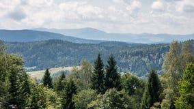 Krynica Gorska Gora Parkowa - collina del parco Fotografia Stock
