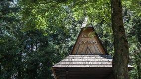 Krynica Gorska Gora Parkowa - collina del parco Immagini Stock Libere da Diritti