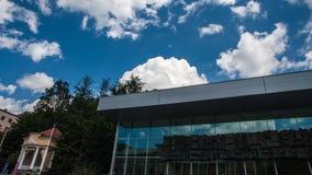 Krynica Gorska park i molo zdjęcia royalty free