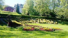 Krynica-Zdrà ³ j, de Parel van Poolse Kuuroorden, health spa toevlucht in Polen stock afbeeldingen