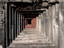 Kryphål av den gamla militära bunker Fotografering för Bildbyråer