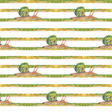 Kryps snails Stock Illustrationer