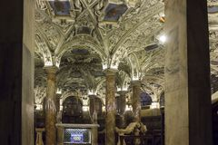 Krypta Coro Jemale unter Mailand-Duomo-Kathedrale Stockbild