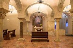 Krypta der Basilika von Sankt Nikolaus in Bari Lizenzfreie Stockfotos
