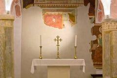 Krypta des Duomo von Spilimbergo Stockfoto